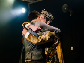 Bradley Frith and Luke Ward Wilkinson as Gaveston and Edward II