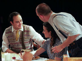 Alexander Barria, Lydia Marcazzo and Christopher Dingli as Pablo, Teresa and Carlos