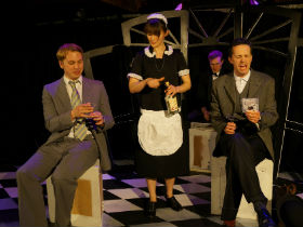 Benedict Chambers, Sarah Bradnam, James Marlowe and Phillip Scott-Wallace as Doodle, Jane, Ramble and Wiseacres