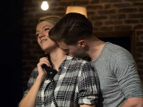 Lizzie Wofford and Johnjo Flynn as Kate and Ed